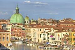 dachy kanałowi Wenecji zdjęcie royalty free