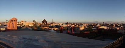 Dachy Marrakesh Medina Zdjęcia Stock