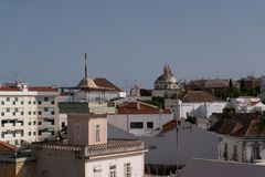 Dachy miasto Tavira Santiago zdjęcie stock