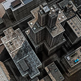 dachy miastowi ilustracja wektor