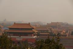 Dachy Niedozwolony miasto w Pekin Zdjęcie Royalty Free