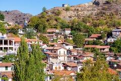 Dachy Palaichori wioska Cypr, Nikozja okręg Zdjęcia Stock