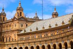 Dachy plac Espana Obrazy Stock