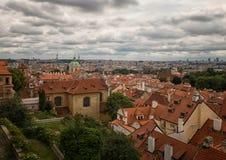 Dachy Praga obraz stock