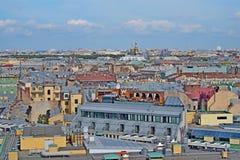Dachy St Petersburg Zdjęcie Royalty Free
