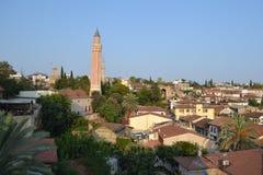 Dachy stary Antalia miasteczko Fotografia Royalty Free