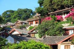Dachy stary lijiang miasteczko, Yunnan, porcelana zdjęcie stock