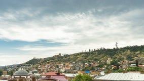 Dachy Stary miasto w Tbilisi Gruzja zbiory