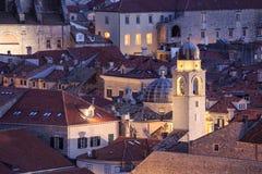 Dachy w Dubrovnik, Chorwacja obrazy royalty free