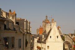 Dachy w Loches, Indre Francja region zdjęcie royalty free