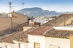 Dachy w Monforte Del Cid Obrazy Stock