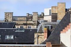 Dachy w starym miasteczku Edynburg obraz stock