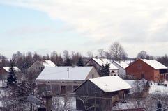 Dachy w zimie Zdjęcia Royalty Free