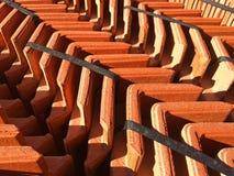 Dachziegel auf einer Palette Lizenzfreie Stockfotos