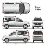 Dacia Dokker Passenger Van 2013. Scale 1:10 vector illustration