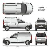 Dacia Dokker Van 2013 Royalty Free Stock Image