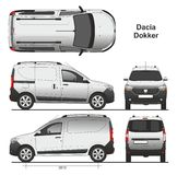 Dacia Dokker Van 2013 vector illustration
