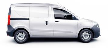 Dacia dokker van scale sizes, ready to design, car dimensions, vehicle wrapping, on vehicle advertising, royalty free illustration
