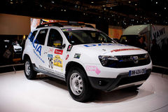 Dacia Duster at Bruxelles auto salon Royalty Free Stock Image