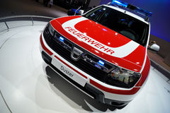 Dacia Duster for firemans Royalty Free Stock Photography