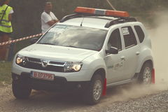 Dacia Duster at Sibiu Rally Romania Stock Photos