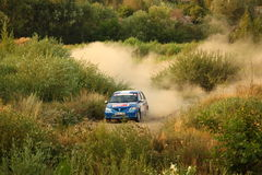 Dacia Logan Rally Royalty Free Stock Photography
