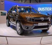 Dacia Staubtuch-Weltpremiere Stockfotografie