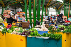 Dacia vegetables marketplace in Brasov, Romania Royalty Free Stock Photos