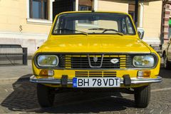Old Dacia 1300. The Dacia 1300 was at the time of its launch a medium-sized family car, built during the Cold War by Romanian auto maker Dacia. The `1300` stands royalty free stock photos