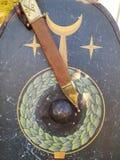 Dacian ancient weapon and shield royalty free stock photos