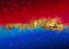 Dacian Draco Flag. On Romanian National Colors Stock Photo