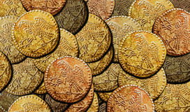 Dacian Koson Gold Coins Background Royalty Free Stock Photography