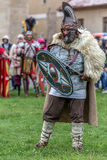 Dacian soldier in battle costume Stock Photography
