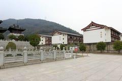 Dacichansi寺庙和maitreya菩萨学院,多孔黏土rgb 免版税库存照片