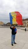 Dacii Liberi Protesting In Oradea City Center Stock Photo