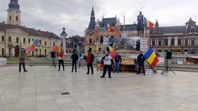Dacii Liberi Protesting In Oradea City Center Royalty Free Stock Photo
