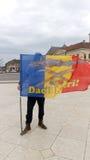 Dacii Liberi Protesting In Oradea City Center Royalty Free Stock Photos