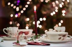 Dacoration da tabela do Natal Fotos de Stock Royalty Free
