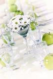 Dacoration de la tabla de la boda Imagen de archivo libre de regalías