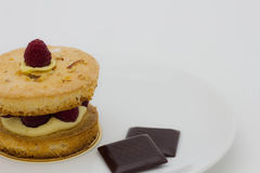 Dacquolse和巧克力 免版税库存图片