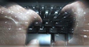 Dactilografia do teclado Imagens de Stock