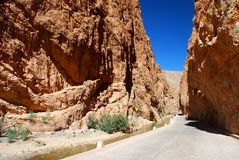 Dadès Gorges. Morocco. Dadès Gorges is a gorge of the Dadès River and lies between the Atlas Mountains and Anti-Atlas mountain range, in Morocco Stock Photography