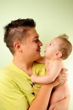 Dad And Little Baby Boy Royalty Free Stock Images