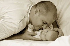 Dad And Little Baby Girl Royalty Free Stock Images