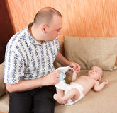 Dad with baby Royalty Free Stock Photo