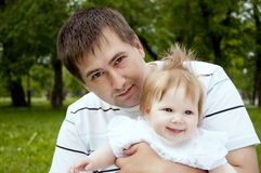 Dad and baby royalty free stock photography