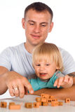 Dad with baby Royalty Free Stock Image