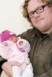 Dad and baby Stock Images