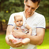 Dad and baby Royalty Free Stock Image