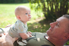 Dad and Baby Stock Photos